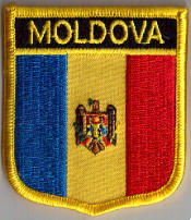 Moldova Embroidered Flag Patch, style 07.