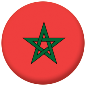 Morocco Country Flag 58mm Mirror
