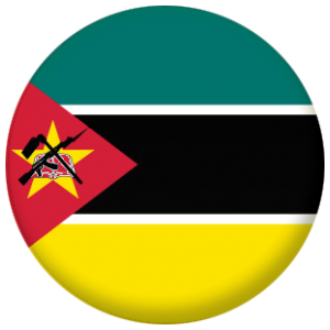 Mozambique Country Flag 25mm Keyring