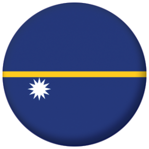 Nauru Country Flag 58mm Mirror