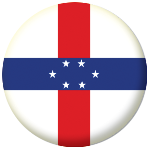 Netherlands Antilles Country Flag 58mm Mirror