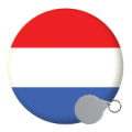 Netherlands Keyrings - 58mm