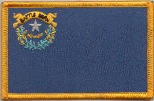 Nevada Embroidered Flag Patch, style 08.