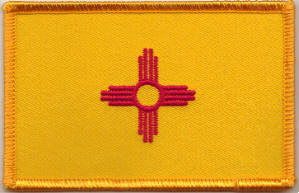New Mexico Embroidered Flag Patch, style 08.