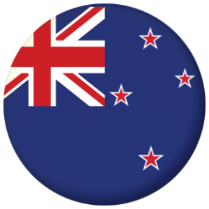 New Zealand Country Flag 58mm Mirror