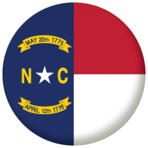North Carolina State Flag 25mm Pin Button Badge