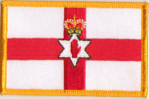Northern Ireland Embroidered Flag Patch, style 08
