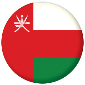 Oman Country Flag 58mm Mirror