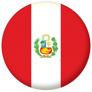 peru country flag 25mm pin button badge