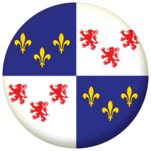 Picardy Province Flag 25mm Flat Back