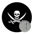 Pirate Button Badges - 58mm