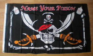 Pirate Name Your Poison Large Flag - 5' x 3'.