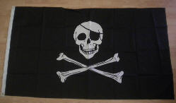 Pirate Skull and Crossbones Large Flag - 5' x 3'.