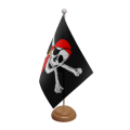 Pirate Wooden Desk / Table Flags