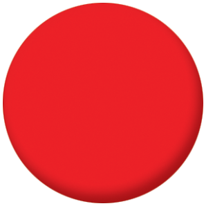 Plain Red 25mm Pin Button Badge