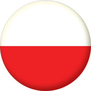 poland country flag 25mm pin button badge