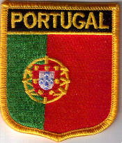 Portugal Embroidered Flag Patch, style 07.