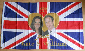 Royal Wedding Large Flag style 2 - 5' x 3'.