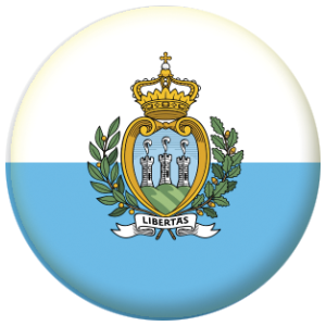 San Marino Country Flag 58mm Mirror