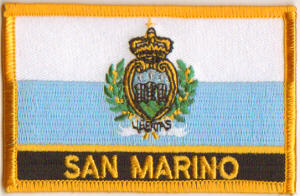 San Marino Embroidered Flag Patch, style 09