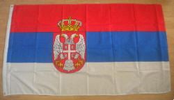 Serbia State Large Country Flag - 3' x 2'.