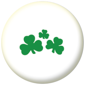 Shamrock 25mm Button Badge