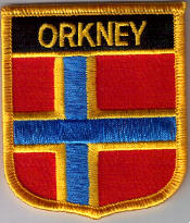 Orkney Islands Embroidered Flag Patch, style 07.