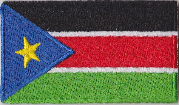 south sudan embroidered flag patch style 04