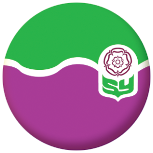 South Yorkshire County Flag 58mm Button Badge