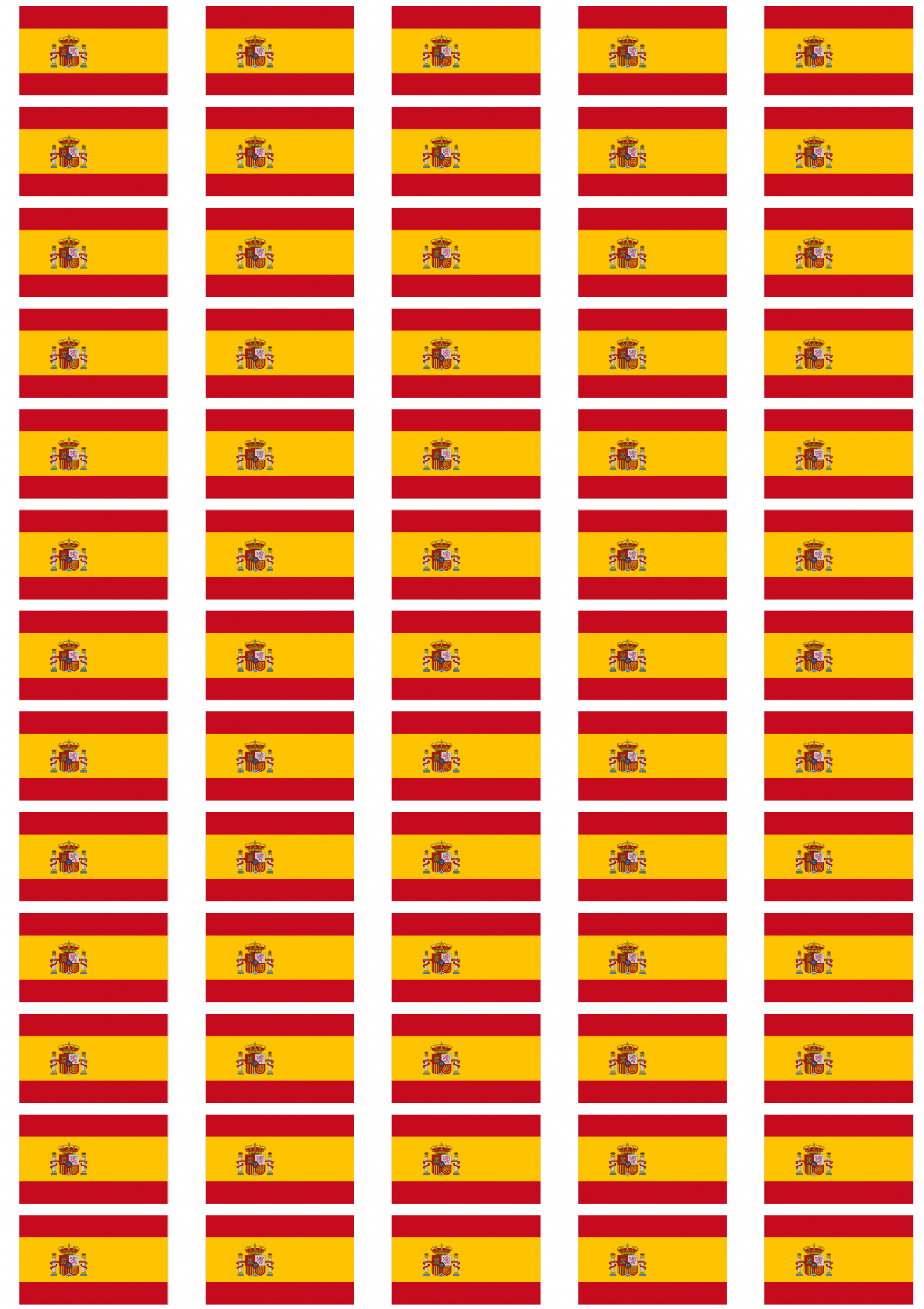 Spain flag stickers 65 per sheet