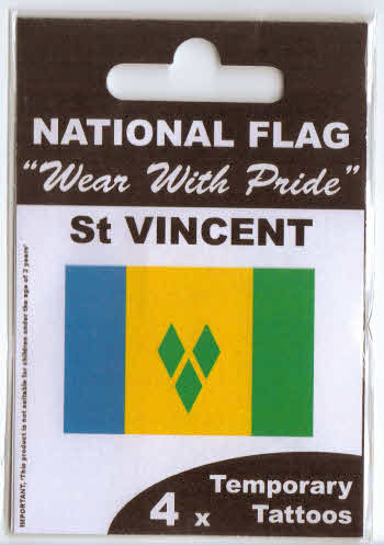 St  Vincent Country Flag Tattoos