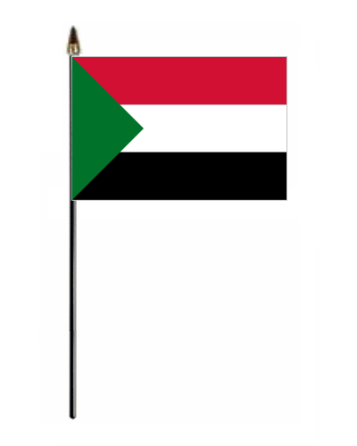 sudan country hand flag small