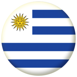 Uruguay Country Flag 58mm Button Badge