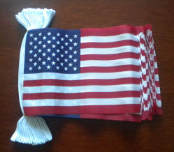 USA Bunting, rectangular, 9 metre.