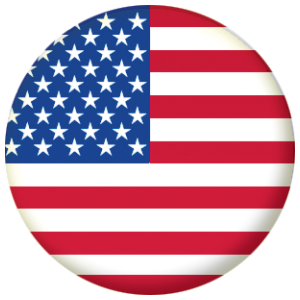 USA Country Flag 58mm Mirror