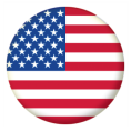 USA State Button Badges - 25mm