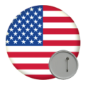 USA State Button Badges - 58mm