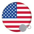 USA State Keyrings - 58mm
