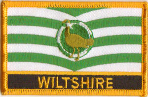 Wiltshire Embroidered Flag Patch, style 09