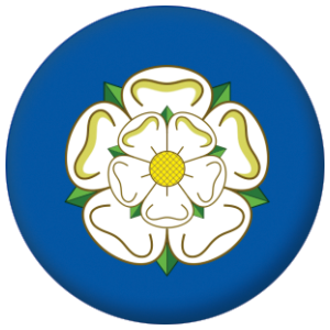 Yorkshire County Flag 58mm Mirror Keyring