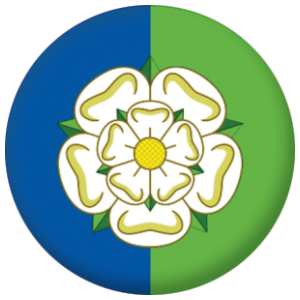 Yorkshire East Riding County Flag 25mm Button Badge