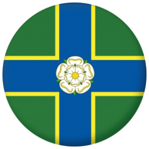 Yorkshire North Riding County Flag 25mm Keyring