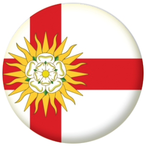 Yorkshire West Riding County Flag 58mm Mirror Keyring