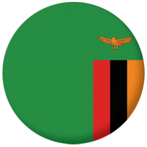 Zambia Country Flag 58mm Mirror Keyring