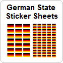 German State Sticker Sheets